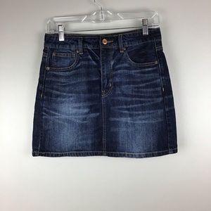 American Eagle denim jean skirt size 6 whiskered
